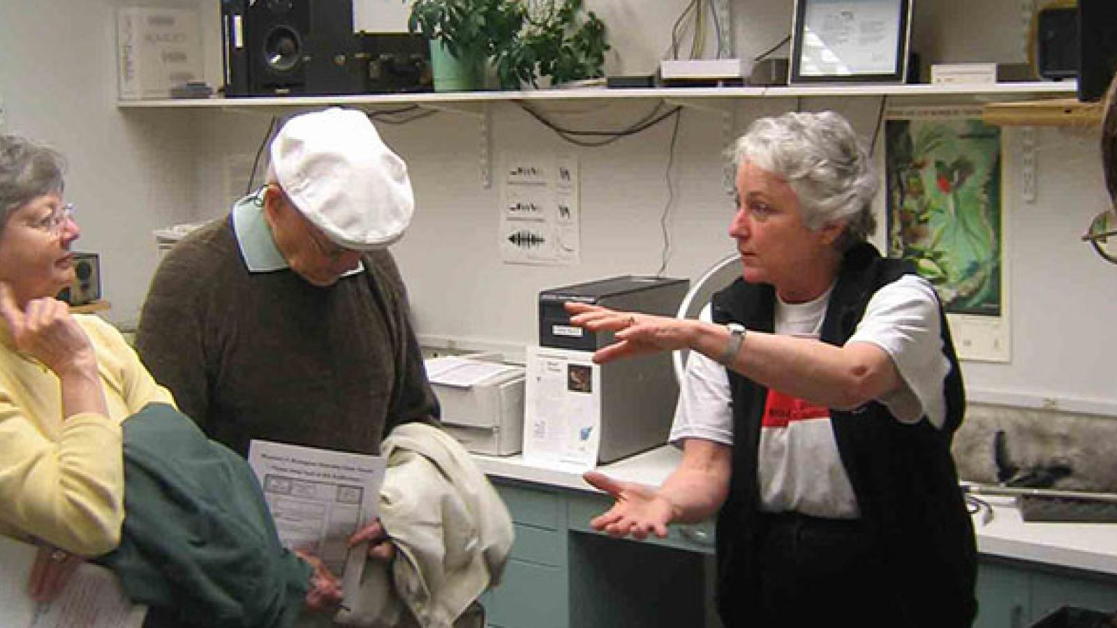 Sandy Gaunt of the Borror Bioacoustics Lab